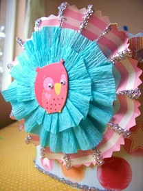 Whimsyloveowliepartyhat