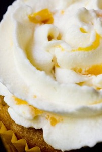 Whipped Cream with Peaches Cupcake Topping