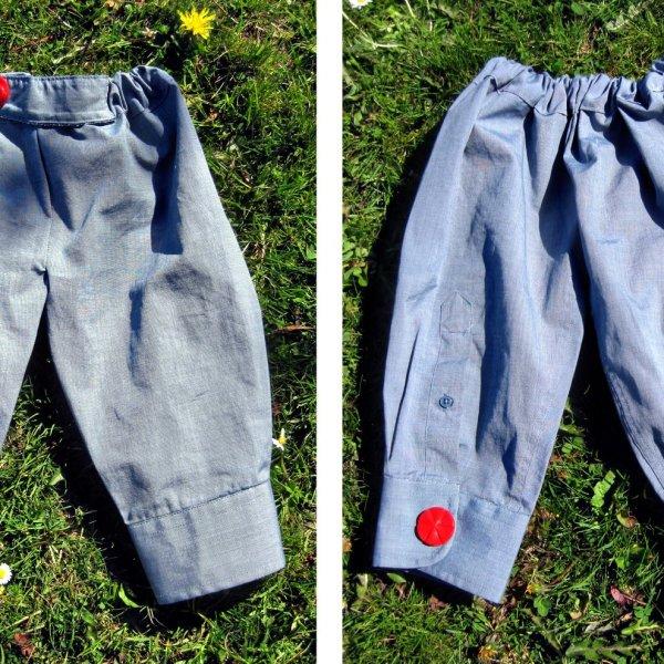 Repurpose a Man's Dress Shirt to Pants