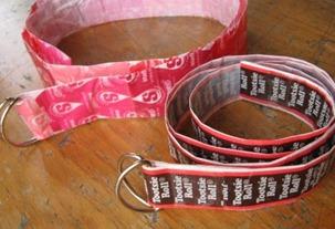 Candy Wrapper Belt Tutorial