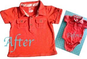 Onesie to Toddler Shirt