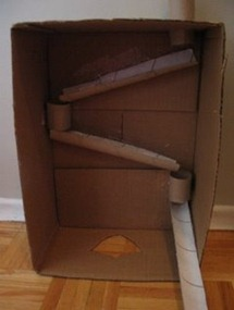 Recycled Cardboard Marble Run