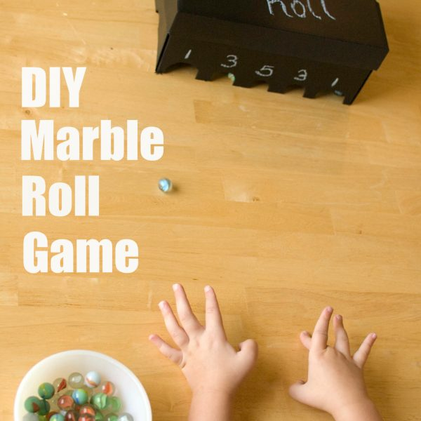 DIY Marble Roll Game from a Shoe Box