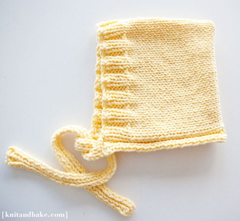 baby bonnet knitting pattern knit and bake