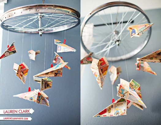 paper airplane mobile lauren clarks blog