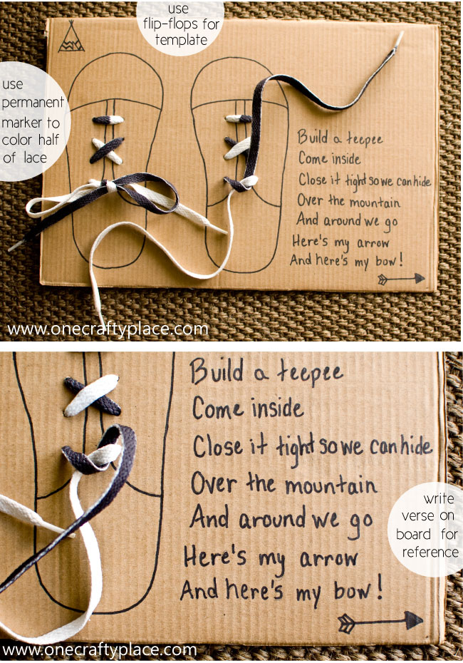 Teach your child to tie shoelaces one crafty place teach your child to tie shoelaces ccuart Gallery