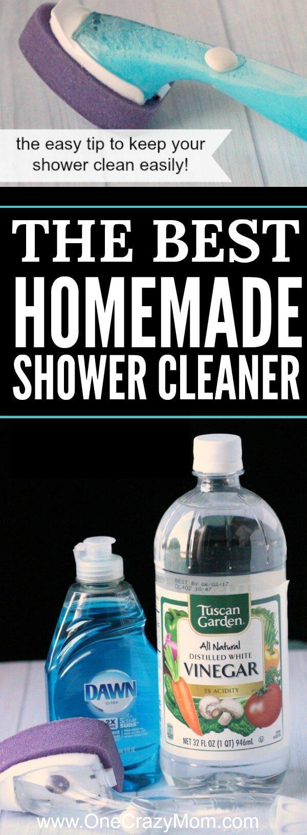 Best Homemade Shower Cleaner Best Shower Cleaner