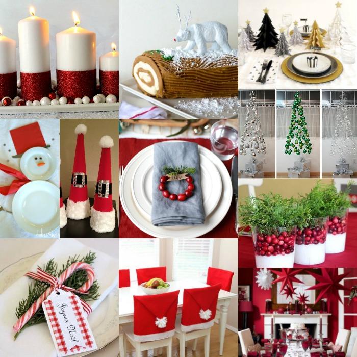 DIY Christmas Table Decorations 15 Christmas Table