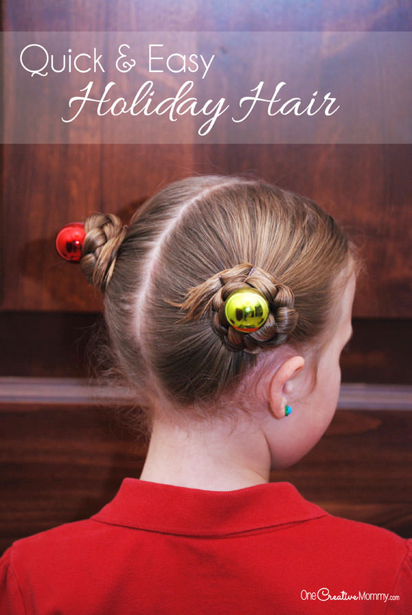 Simple Holiday Hair For Girls