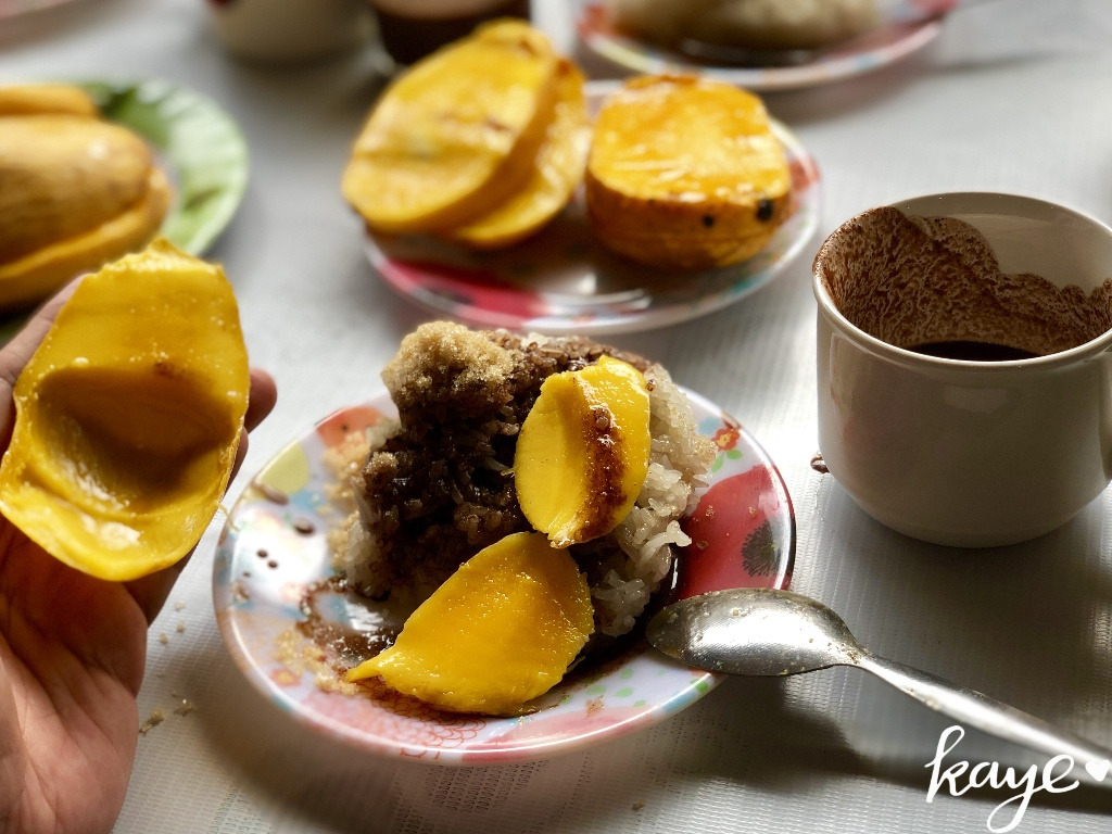 Suman, mangga, tsokolate