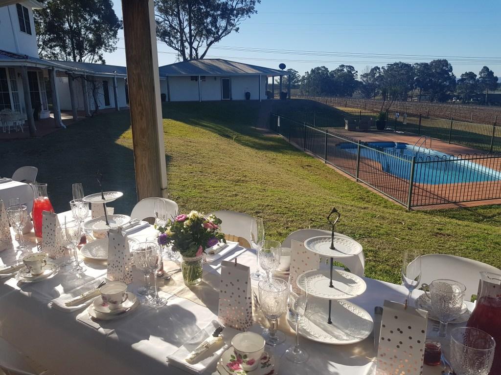 Tea party garden set up