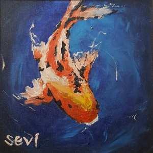painted koi fish