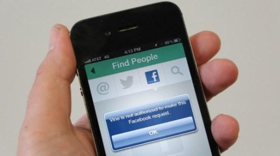 Vine bloqueado en Facebook