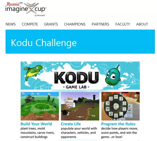 imagine cup kodu challenge