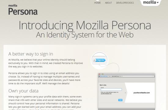 Mozilla Persona — an identity system for the web — mozilla.org