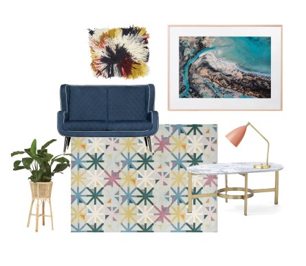 Furniture and Art for interior design Moddboard