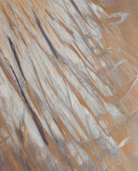 Aerial photo of Lake Eyre of salt , sand and water
