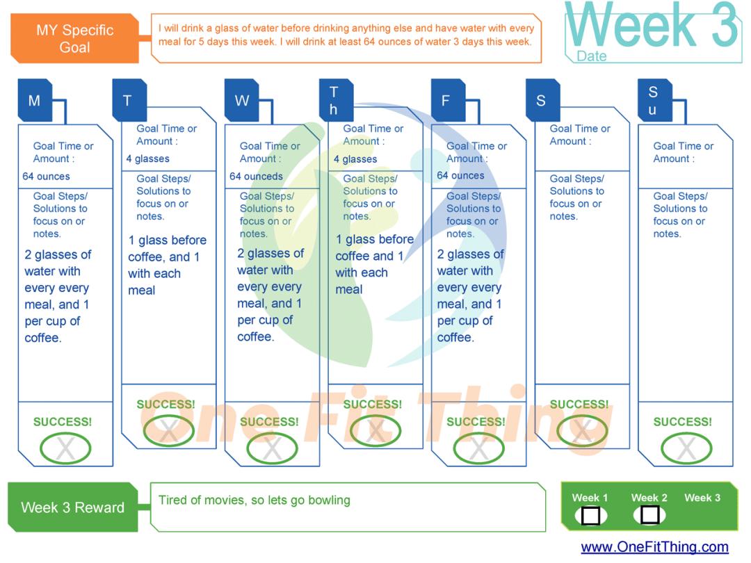 SMART Goal Tool - Week 3 Example