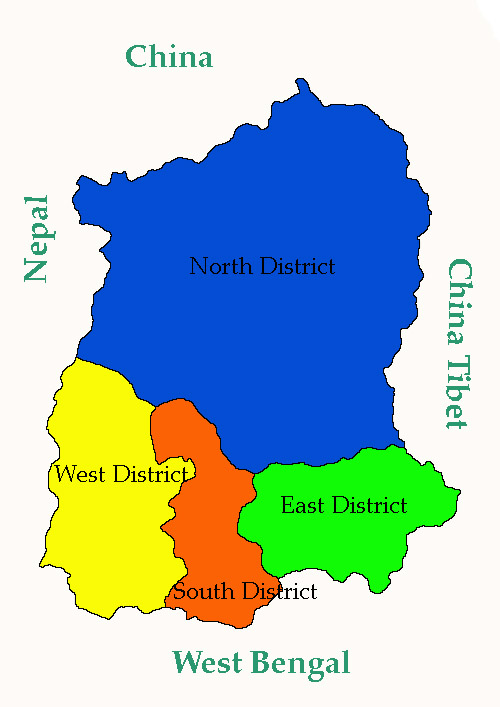 Image result for sikkim map