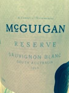 McGuigan Reserve Sauvignon Blanc wine 2013