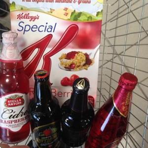 Fruit cider shopping basket
