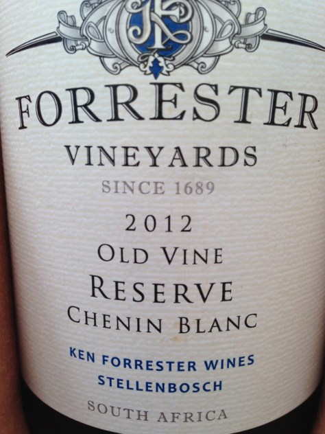 Forrester Vineyards 2012 Old Vine Reserve Chenin Blanc