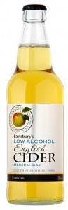 Sainsbury low alcohol cider review