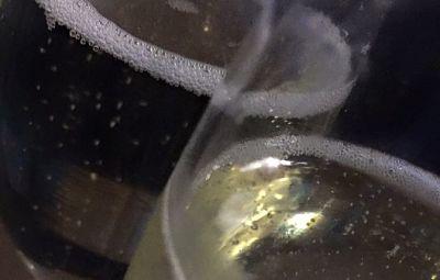 Christmas fizz, glass of bubbles