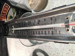 Baileys Christmas Fudge thermometer