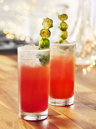 festive gin cocktail Sprouting Gordons Gin Fizz #festivedrinks Smith & Sinclair