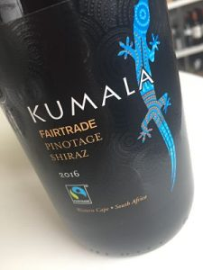 Kumala Fairtrade Pinotage Shiraz Co-operative wine