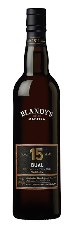 Christmas pudding wines Blandy's - 15YO Bual