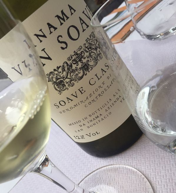 Inama Soave wine, tasted in the vineyards