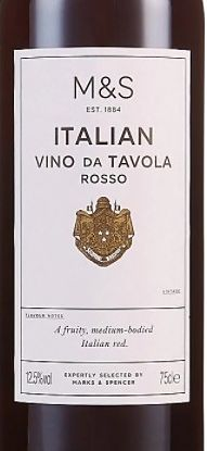 Vino Tavola Rosso Marks & Spencer New Year's Eve wine