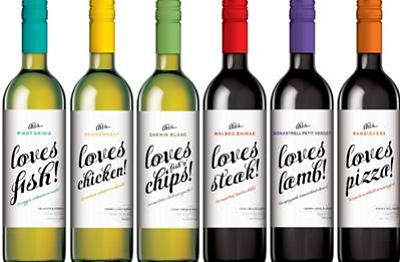 Aldi this loves wine range