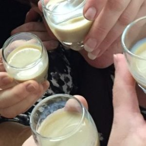 Jane Clare tests out cream liqueurs