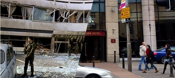 Hotel Europa Belfast, before and after