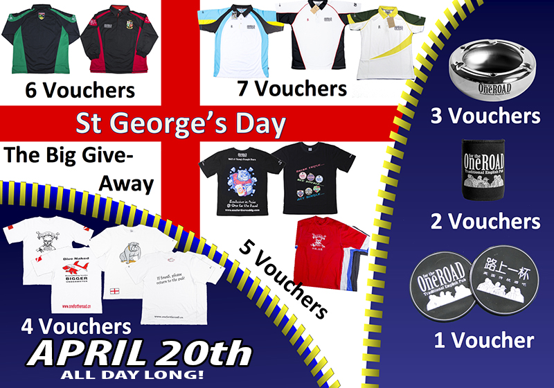 Here comes St. Georges day@ One for the Road