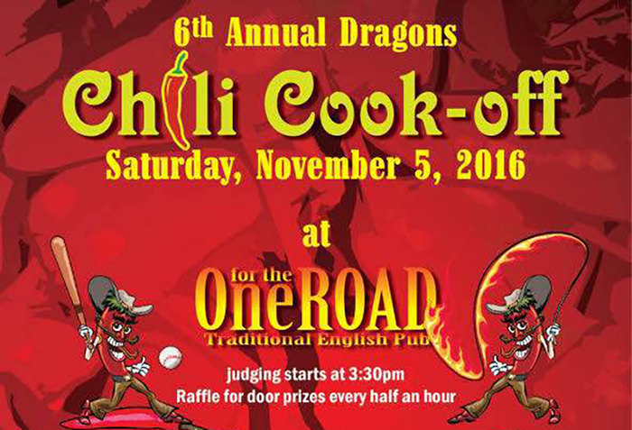 Dongguan Dragons Chili Cook-off at One for the Road