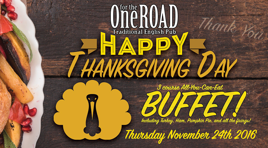 Thanksgiving Buffet info – NOW with HAM!! (Vegetarian Course also*!)