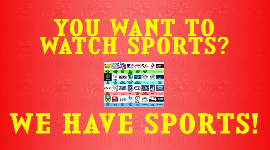 WE HAVE SPORTS! Watch YOUR favorite sports at OFTR