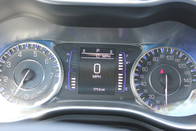 Digital and analog readouts on the dashboard