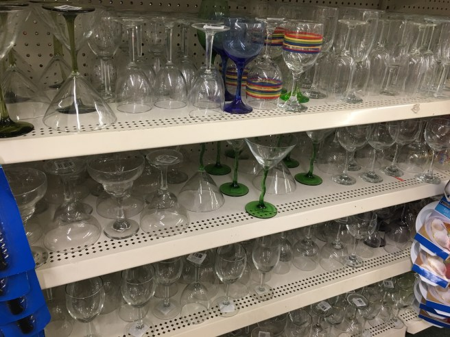 The stemware selection at my local dollar store