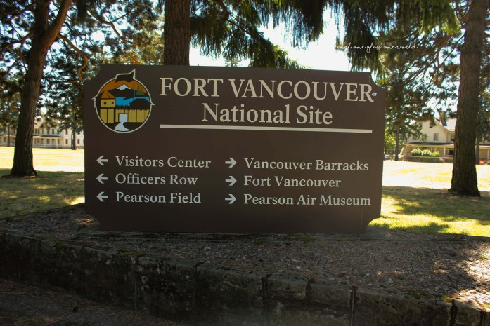 The Entrance to Fort Vancouver, located at Fort Vancouver Way and Evergreen Blvd.