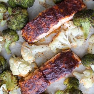 Spiced Salmon Sheet Pan Dinner