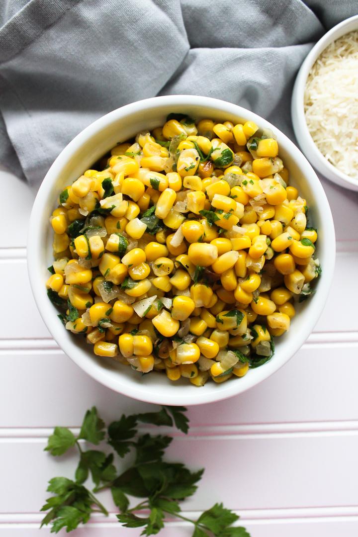 Parmesan Garlic Corn