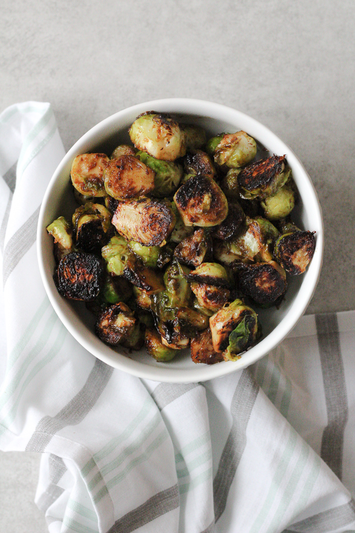 Caramelized Apple Butter Brussels Sprouts