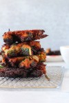 Miso red lentil zucchini fritters