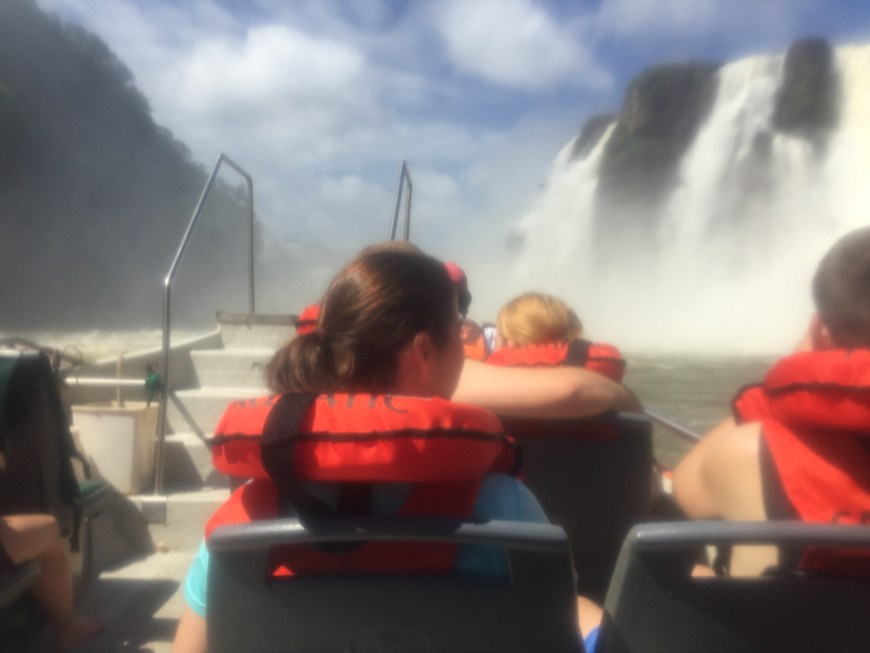 Getting soaked at Iguazu Falls. The boat trip is definitely worth it, though these tips will help you make the most of it.