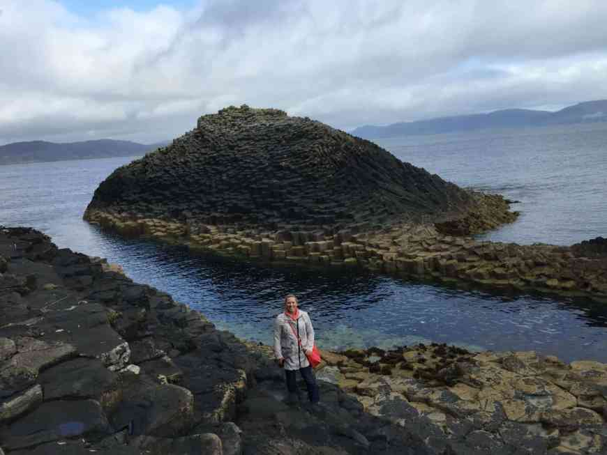 I'm obsessed with the rock formations of the Isle of Staffa, off the coast of Scotland!